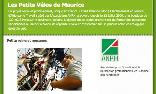 On forme des personnes en situation de handicap au métier de réparateur de vélo