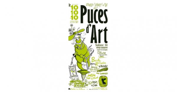 On a décidé d'organiser des puces d'art : les artistes sortent leurs fonds d'atelier à prix